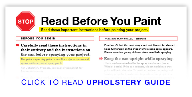 Read Before You Paint with Upholstery Paint