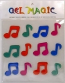 Musical Notes Large Gel