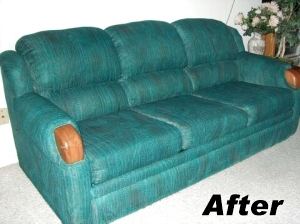 fabric spray paint couch like new