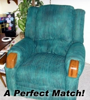 spray paint chair to match sofa upholstery