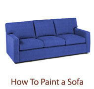 How To Paint a Sofa