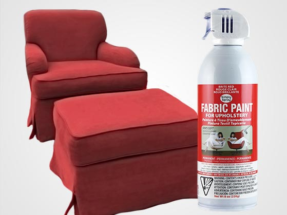 Brite Red Upholstery Fabric Spray Paint