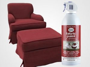 Burgundy Upholstery Fabric Spray Paint