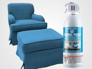 Caribbean Blue Upholstery Fabric Spray Paint