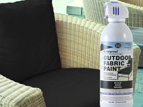 black waterproof outdoor vinyl fabric spray paint. Black Bedroom Furniture Sets. Home Design Ideas