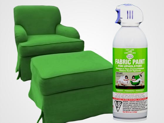 Hot Lime Upholstery Fabric Spray Paint