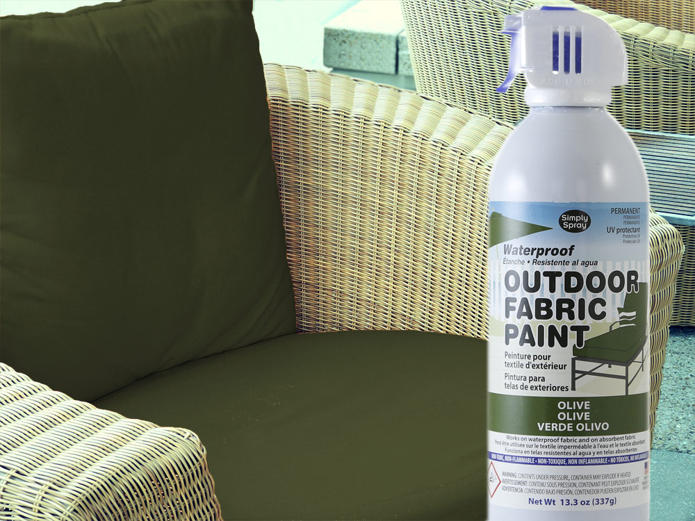 olive waterproof outdoor fabric spray paint cushions dye