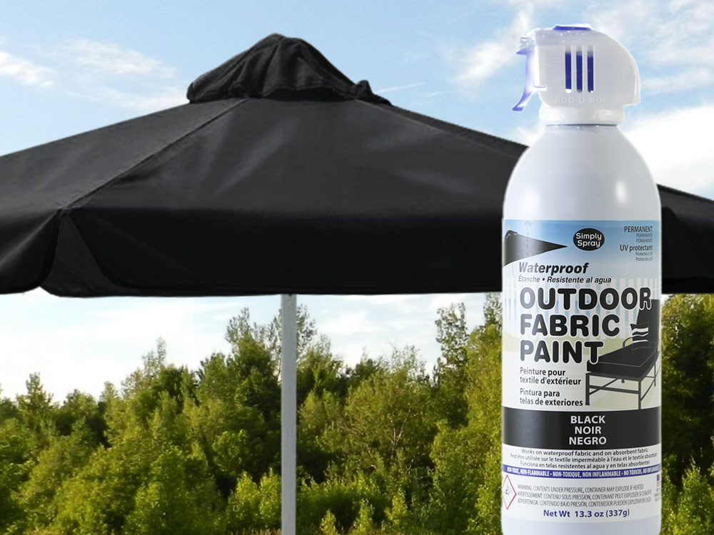 Black Waterproof Outdoor Fabric Spray Paint