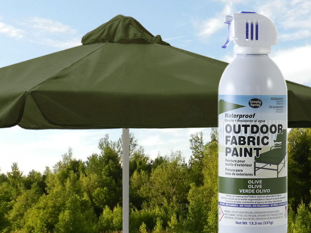 Olive Green Waterproof Outdoor Fabric Spray Paint