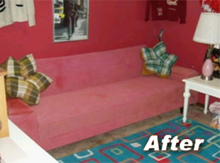 Painting a Living Room Couch with Fabric Spray Paint