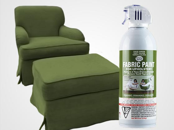 Sage Green Upholstery Fabric Spray Paint