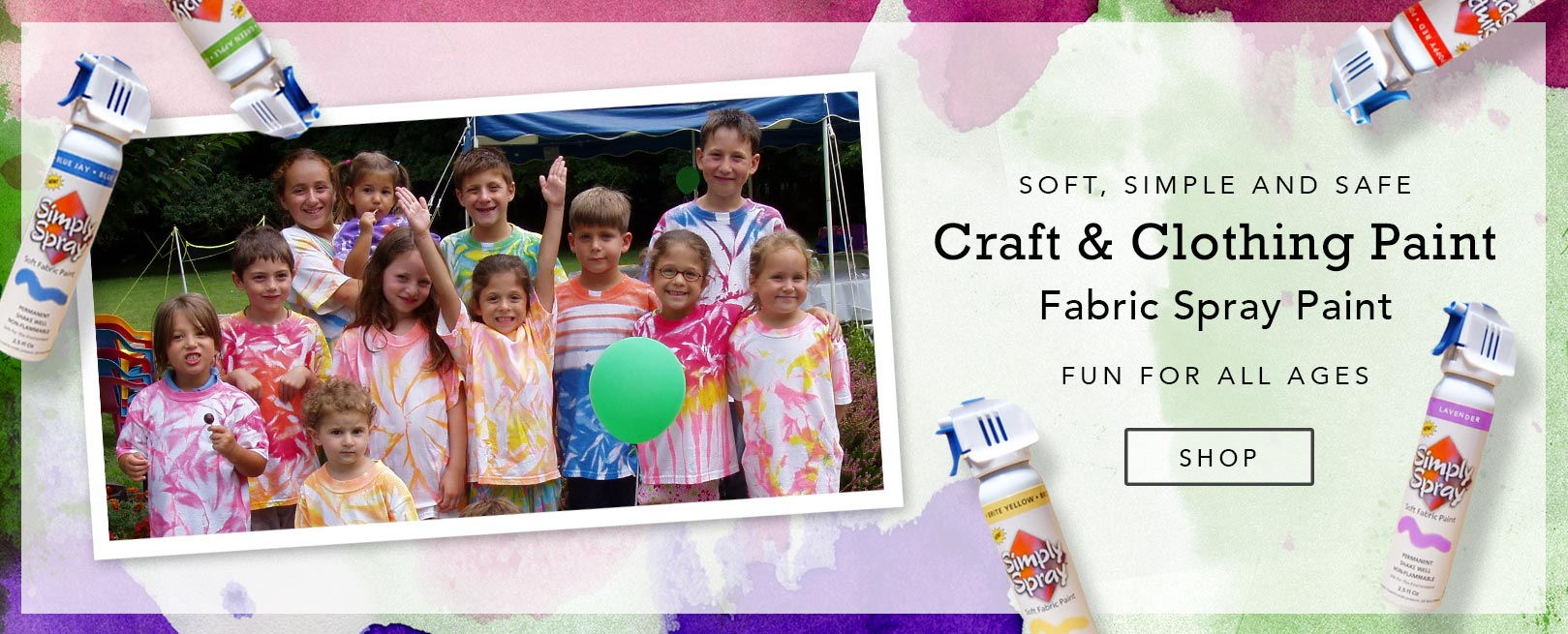 Craft and Clothing Fabric Spray Paint
