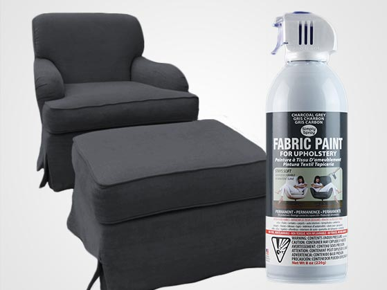 How To Use Fabric Spray Paint On A Chair