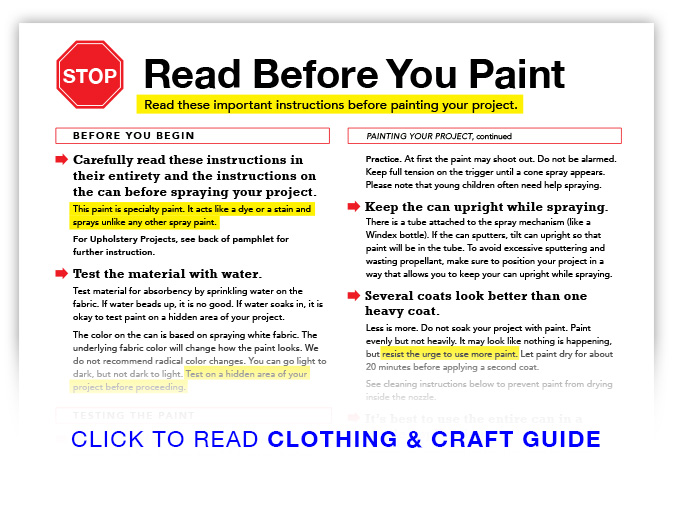 Read Before You Paint