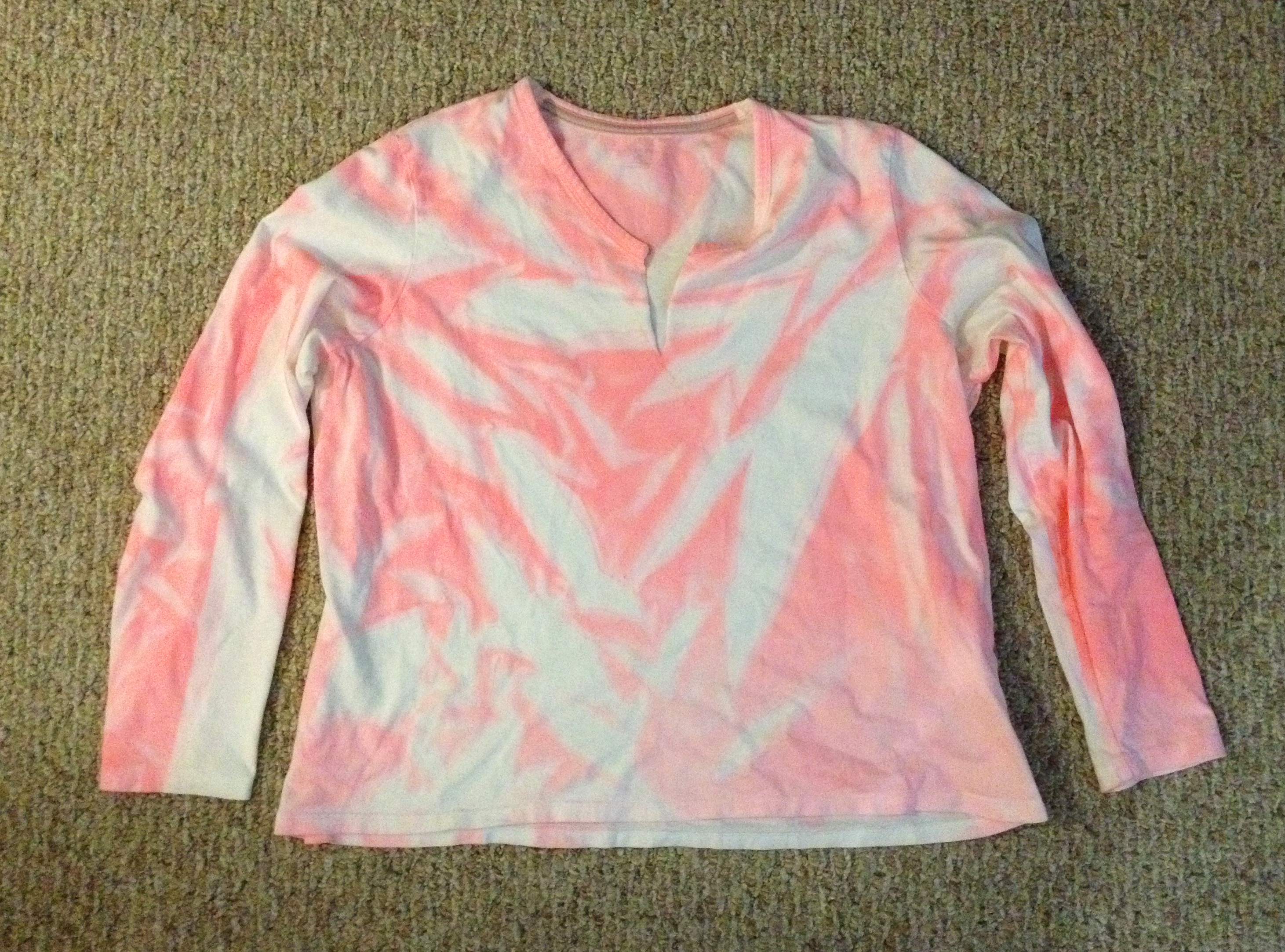 Making a pink tie dye costume with fabric spray paint - How to get exterior paint out of clothes ...