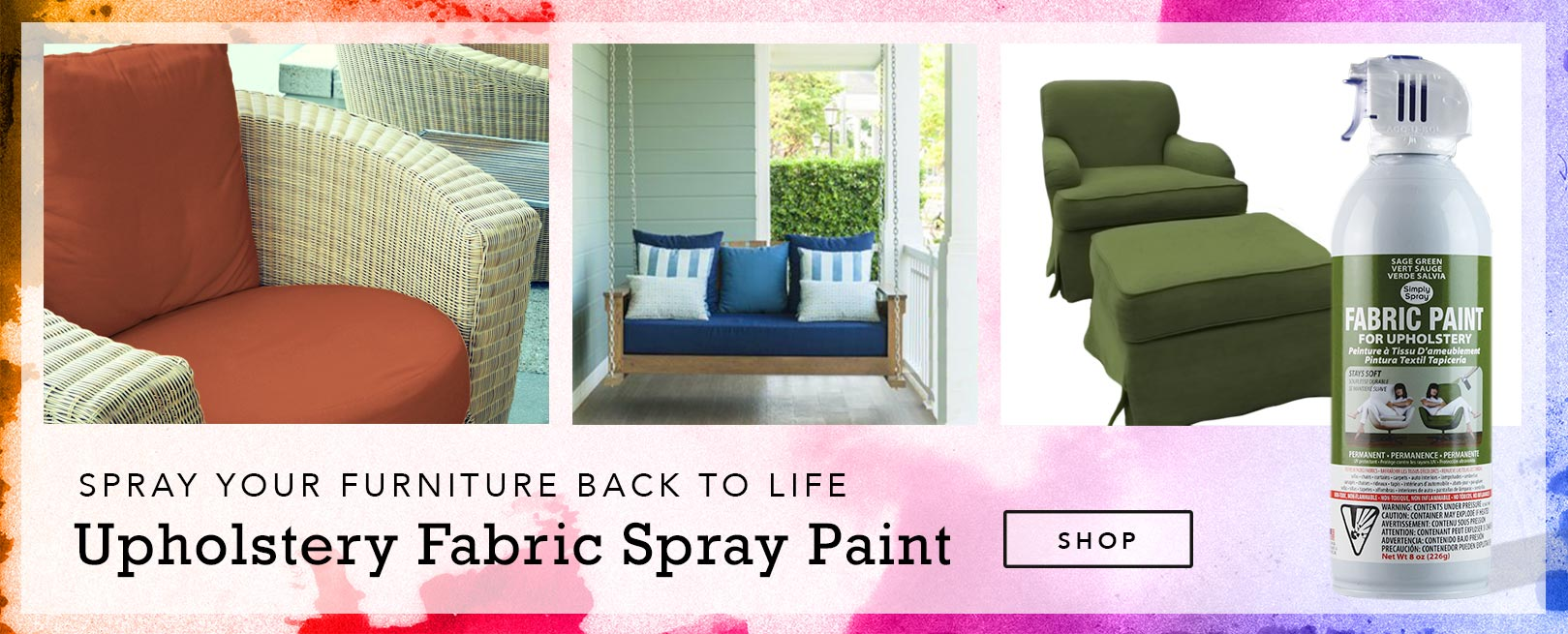 fabric spray paint simply spray upholstery dye. Black Bedroom Furniture Sets. Home Design Ideas