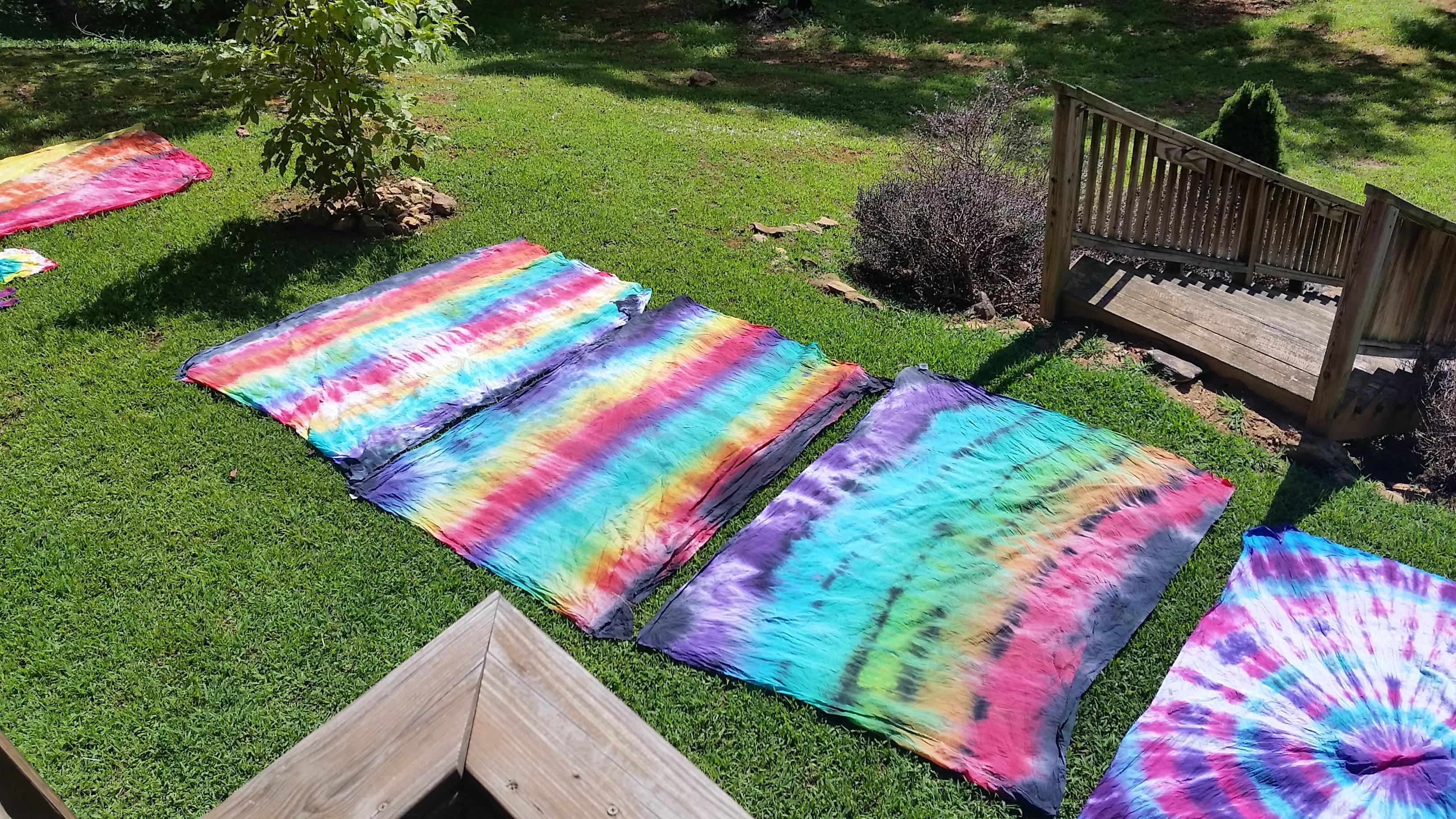Diy Tie Dye Tapestries Girl Scout Troop Our White