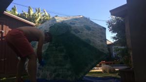 DIY umbrella painting